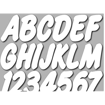 """Stiffie Whip-One White 3"""" Alpha-Numeric Registration Identification Numbers Stickers Decals for Boats & Personal Watercraft: Automotive"""