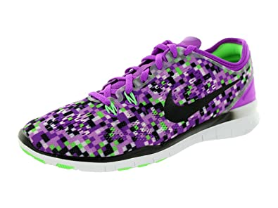 Nike Free 5.0 Tr Fit 5 Print Training Shoes Women Purple/Black/Green