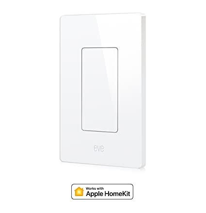 eve light switch connected wall switch easily upgrade to intelligent automate your lighting with timers and rules bluetooth low energy white rh amazon com