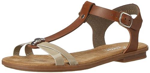 Rieker Damen 64268 Offene Sandalen mit Keilabsatz