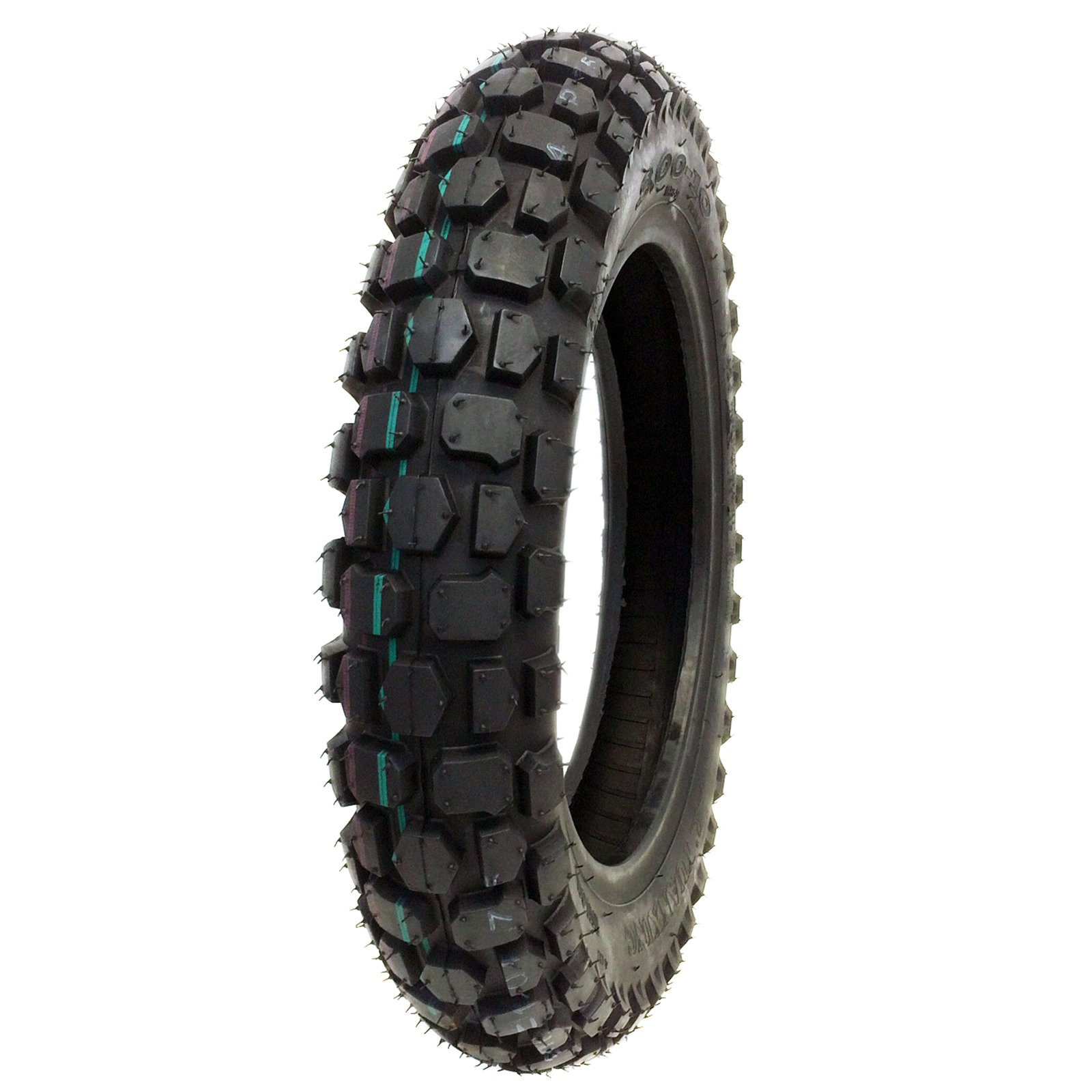 TIRE SET: Front 2.50-10 and Rear 3.00-10 Knobby Tread for Trail Off Road Dirt Bike Motocross Mini 10'' Rim