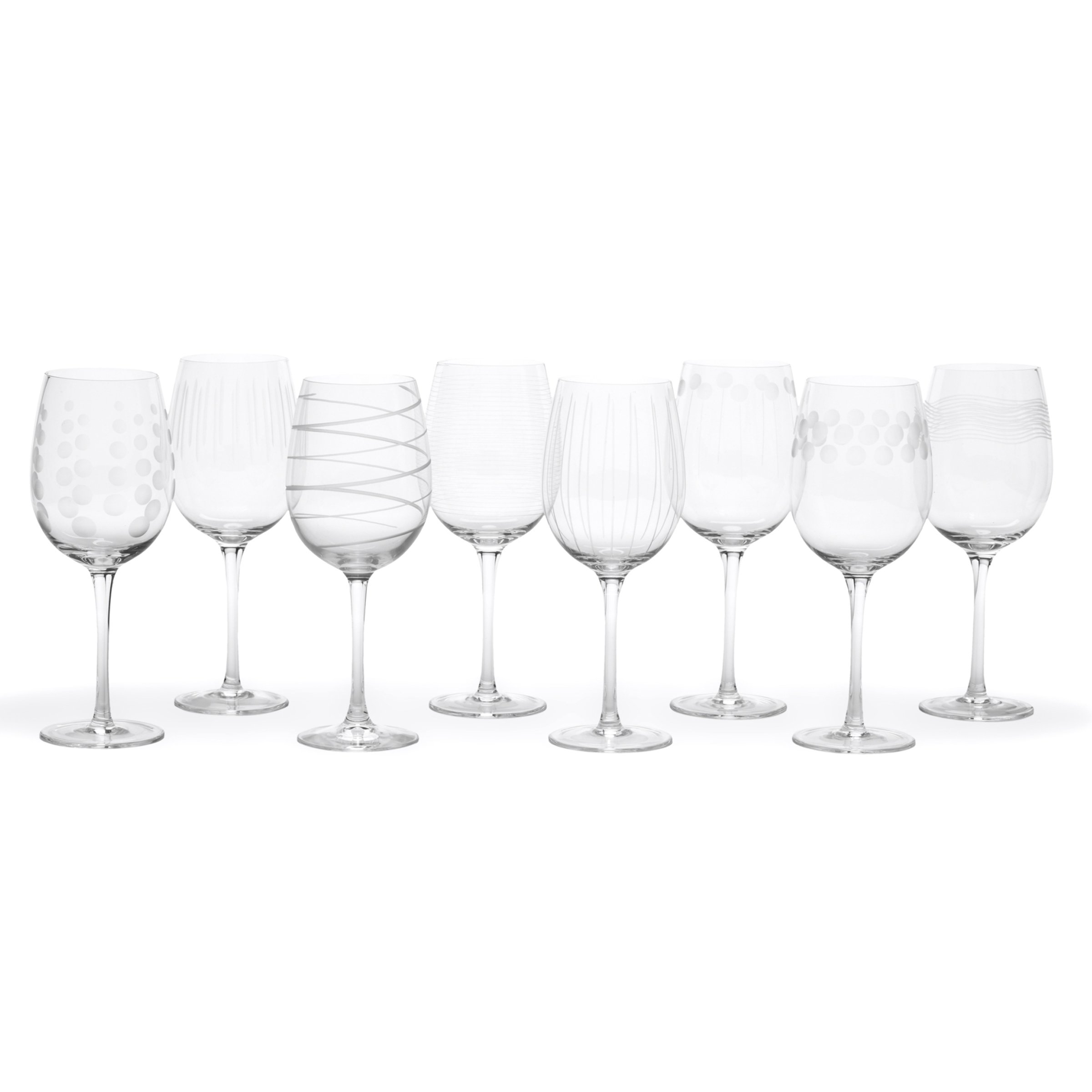 Mikasa Cheers White Wine Glasses, 16-Ounce, Set of 8 by Mikasa