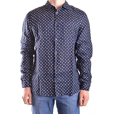 cbadcb1b7c Michael Kors Slim Fit Baron Shirt Small NAVY: Amazon.it: Abbigliamento