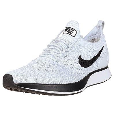 Nike Men Air Zoom Mariah Flyknit Racer Pure Platinum White Size 10.0 US,  Pure Platinum