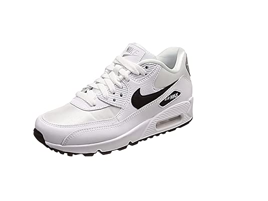 buy popular d755a 1d54b Nike Wmns Air Max 90, Scarpe da Fitness Donna, (White Black