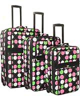 World Traveler New Multi Dot Expandable Upright Luggage Set
