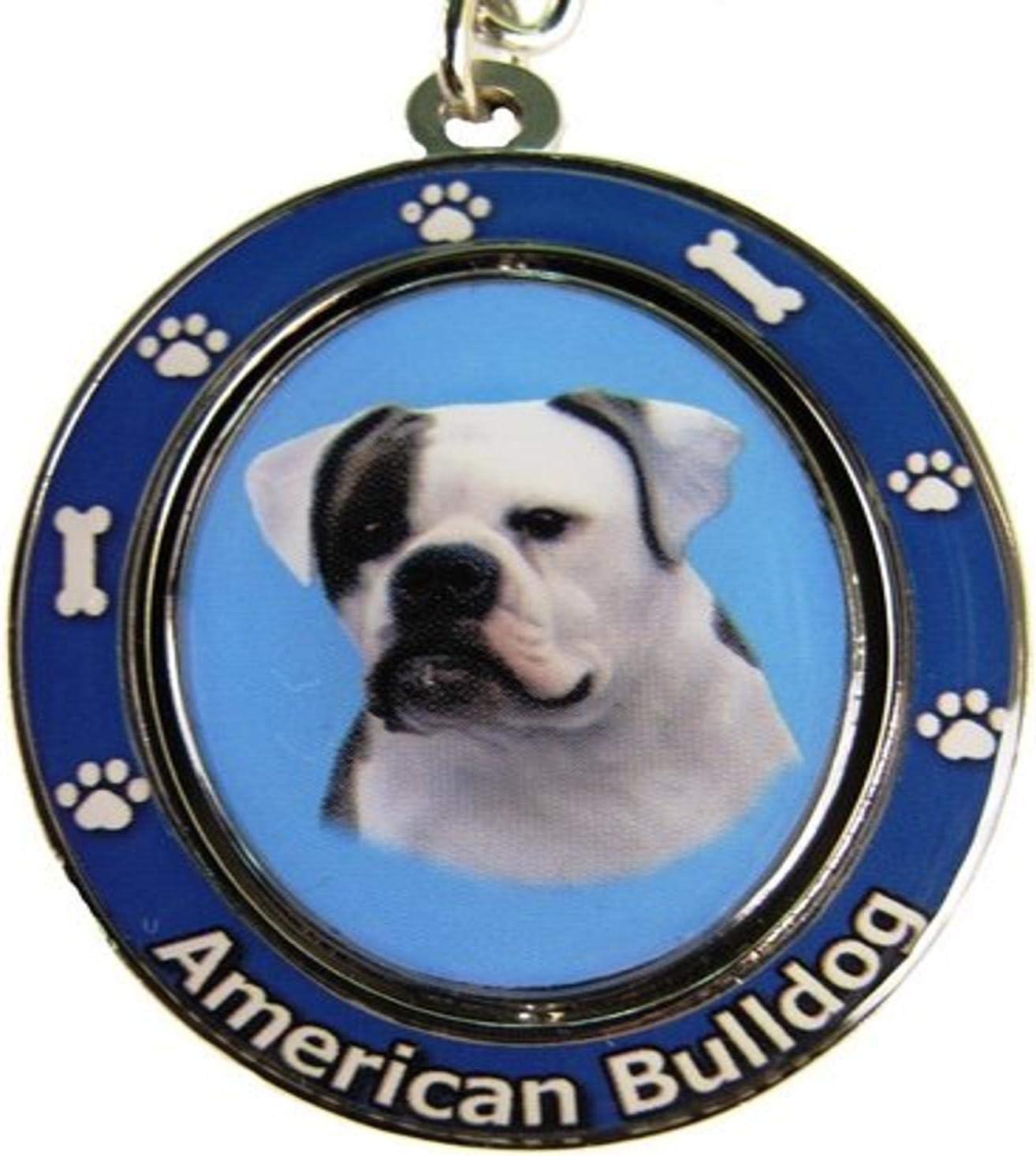 E&S Pets American Bulldog llavero Spinning Pet Key centro ...