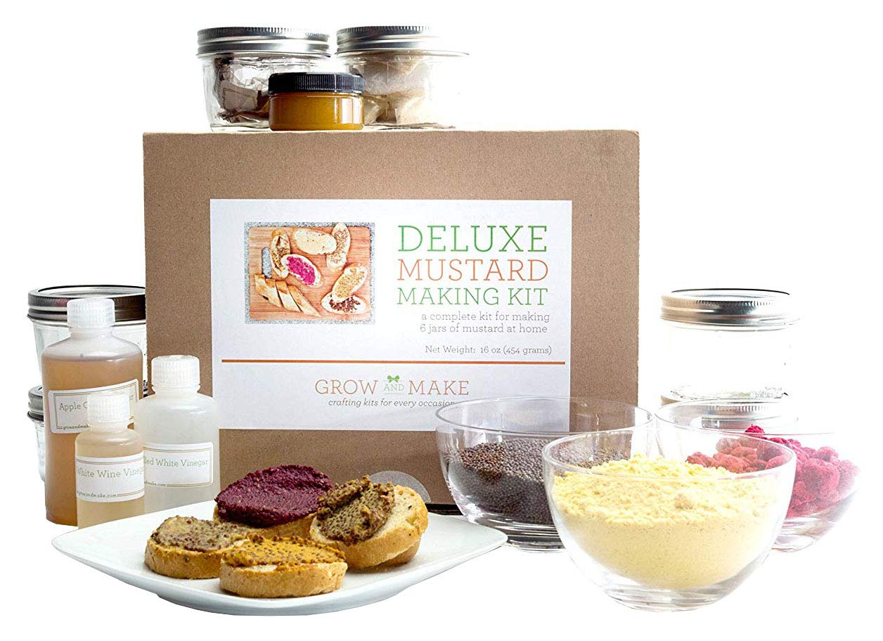 DIY Deluxe Mustard Making Kit - Make 6 jars of gourmet mustard at home!