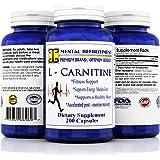 Mental Refreshment: L - Carnitine 1000mg, 200 capsules (1 Bottle)