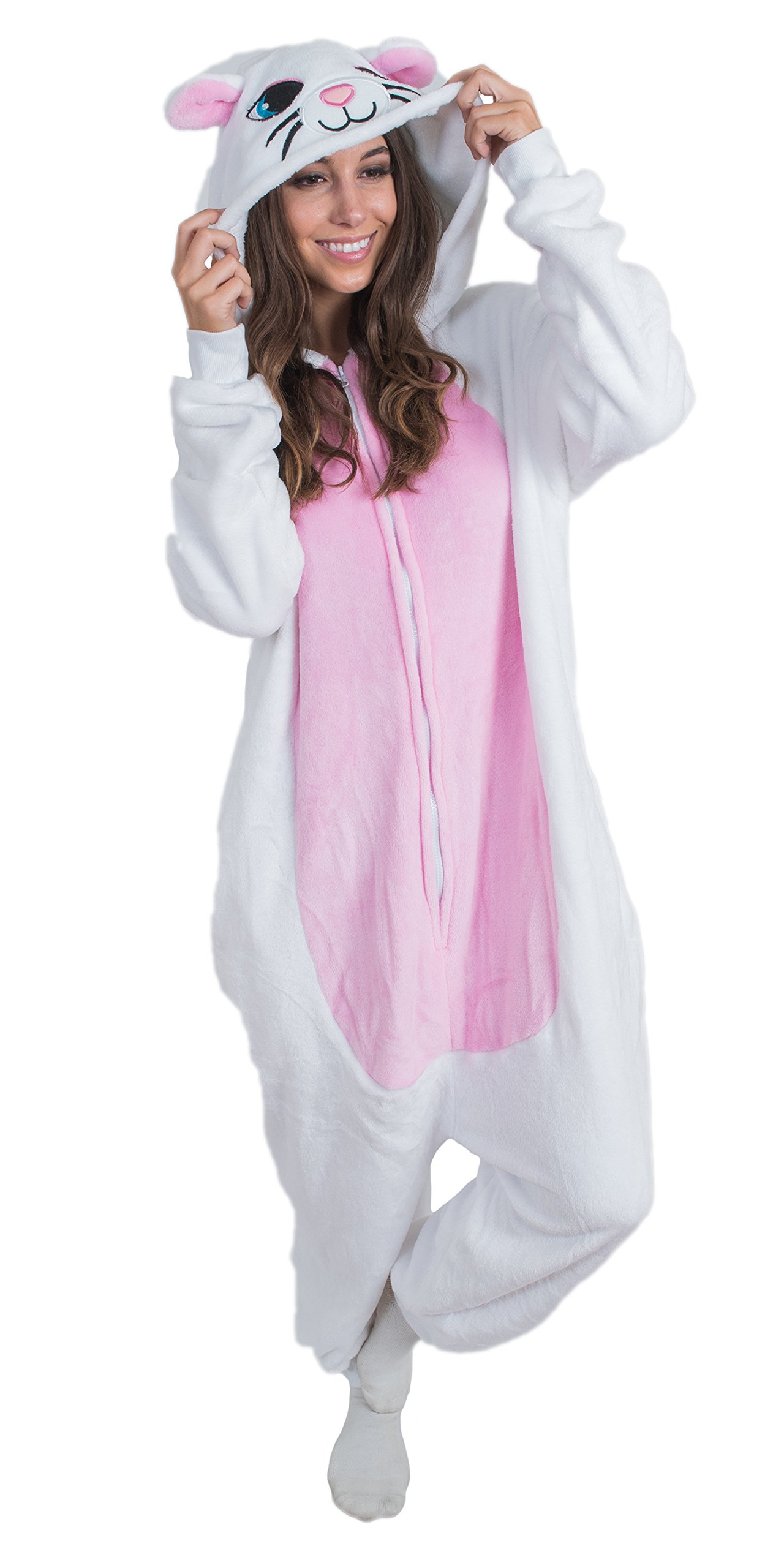 Bad Bear Brand Adult Onesie Cat Animal Pajamas Comfortable Costume With Zipper and Pockets (Small) by Bad Bear Brand (Image #2)
