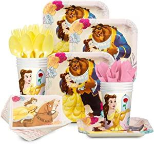 Costume SuperCenter Beauty and the Beast Standard Tableware Kit (Serves 8)