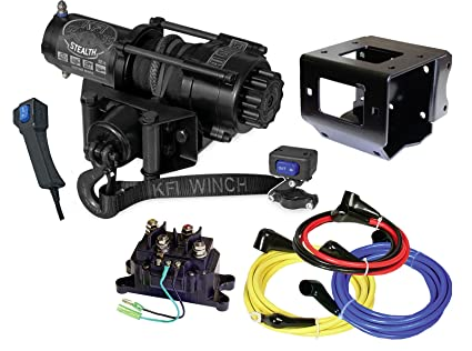 KFI Products Winch Mount with Contactor Bracket Polaris 2013-2018 Scrambler 850//1000 and Sportsman 2009-2018 ETX 400//450//500//550//570//800//850//1000//Big Boss Models/101740