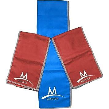 Misión Enduracool Athletecare instantánea refrigeración toalla: 1 pcs - azul y 2 toallas de pcs-red: Amazon.es: Hogar