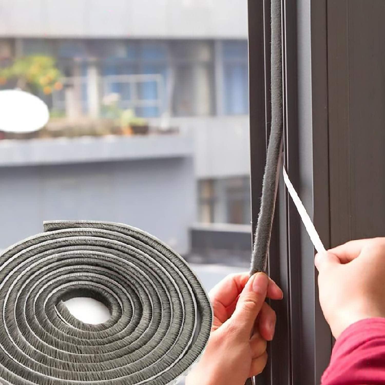 Auart Zhyilei-Shower 5m Self-Adhesive Door and Window Sealing Strip Glass Window Anti-Collision Rubber Strip Foam Sound Insulation Strip Color : White2x2.5m, Shape : P Bathroom Seal