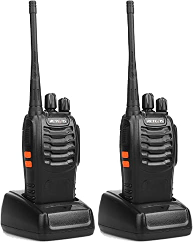 Retevis H-777 Two Way Radio UHF 16CH 2 Way Radio Single Band Flashlight Portable Walkie Talkies 1 Pair – Black