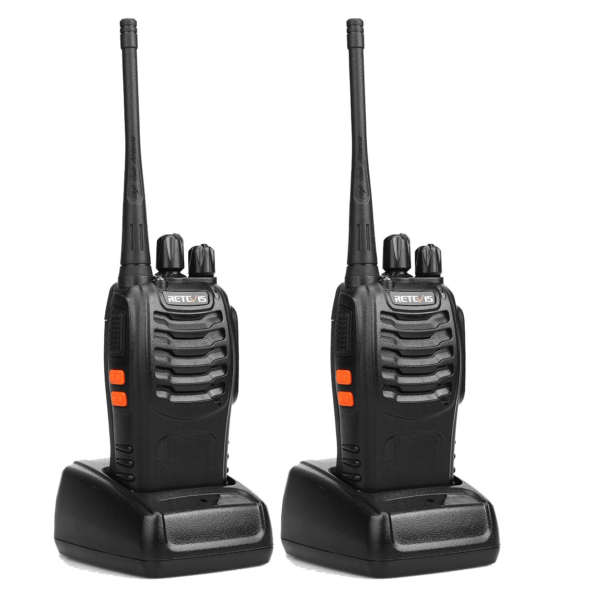 Retevis H-777 Two Way Radio UHF 400-470MHz 16CH Single Band Flashlight Portable Walkie Talkies (1 Pair)