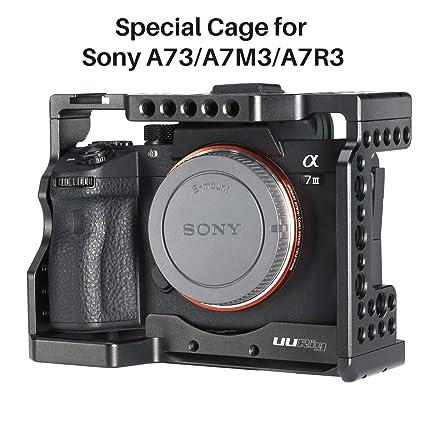 UURIG Jaula para cámara para Sony A7RIII / A7III con Zapata fría y ...