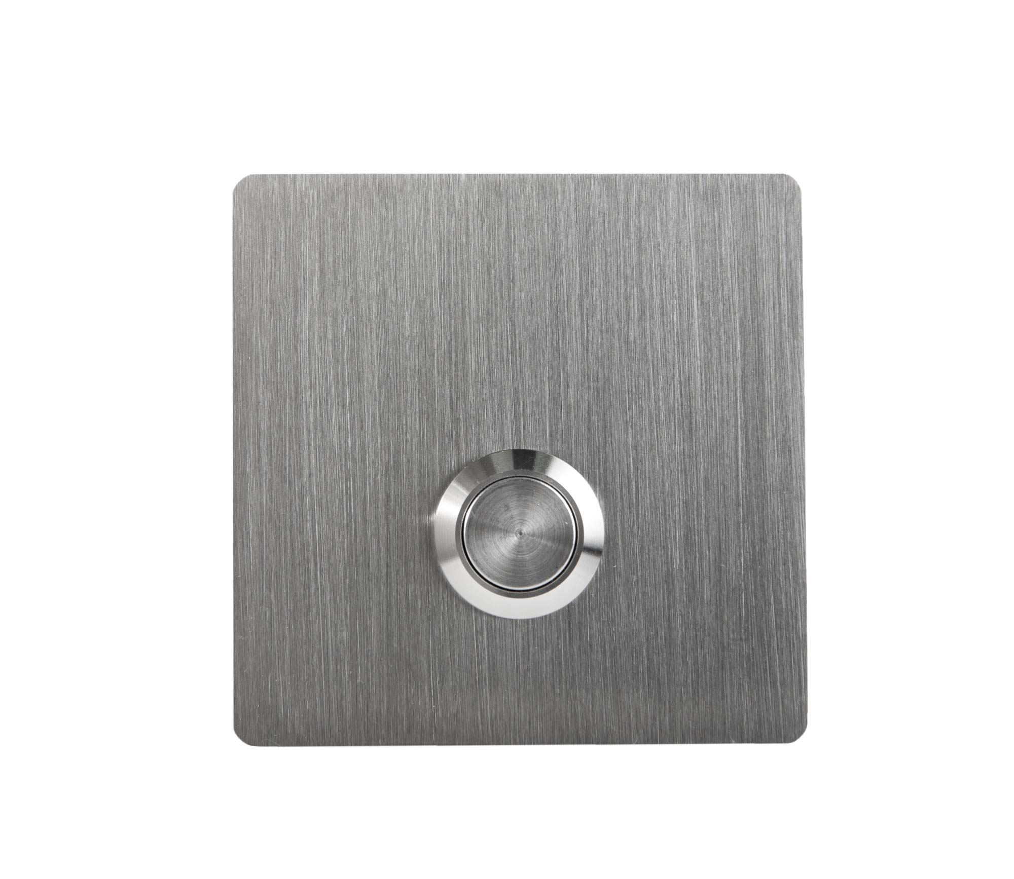Modern Stainless Hardware Model S2 Stainless Steel Doorbell Button in grade 304 Stainless Steel 4mm thick
