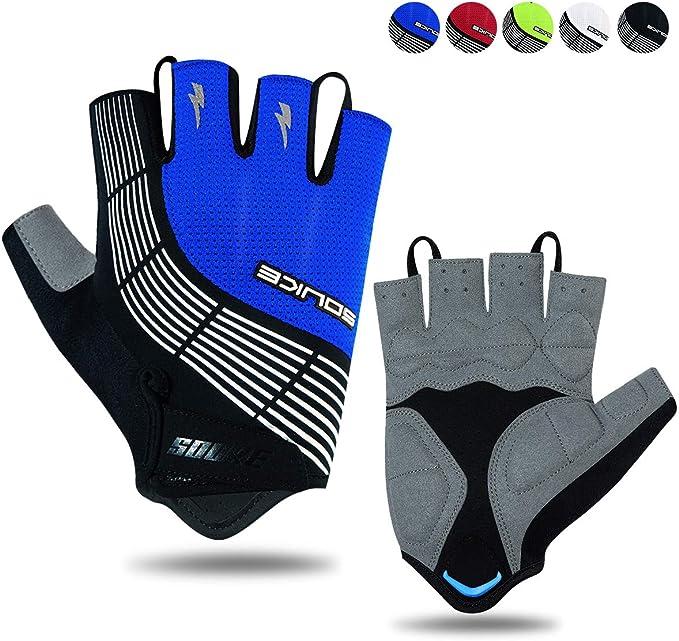 Halbfinger Radsport Handschuhe Fahrradhandschuhe für Herren Damen