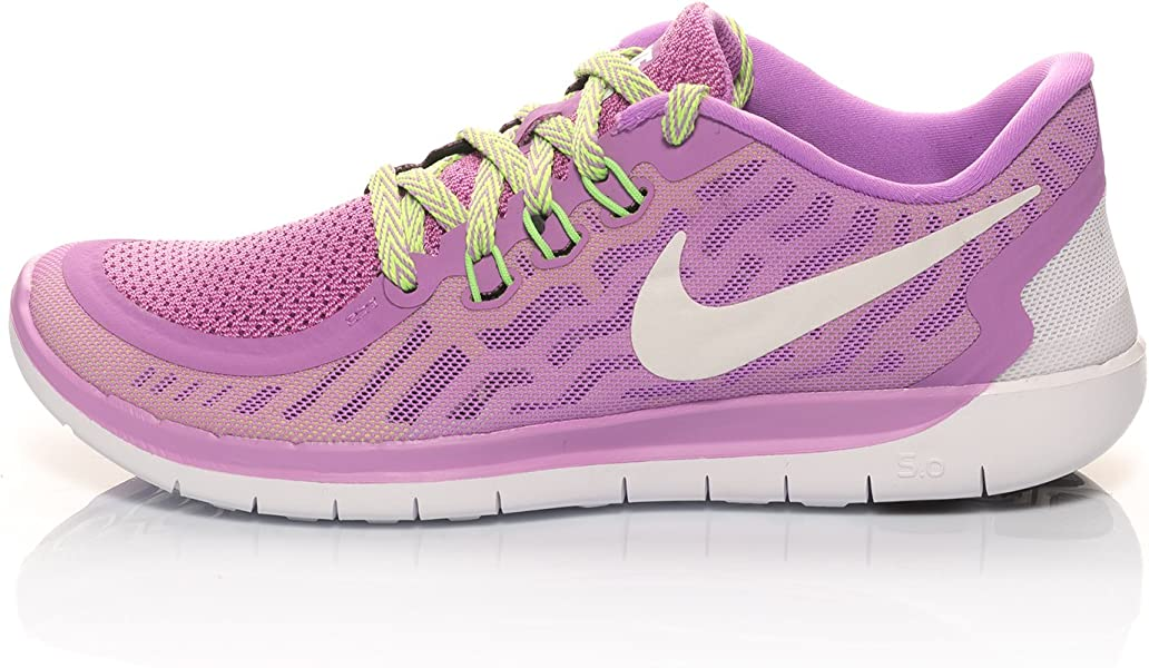 8e542b294d20 NIKE Women s Free 5.0 (Gs) Trainers Purple Size  5 UK  Amazon.co.uk ...