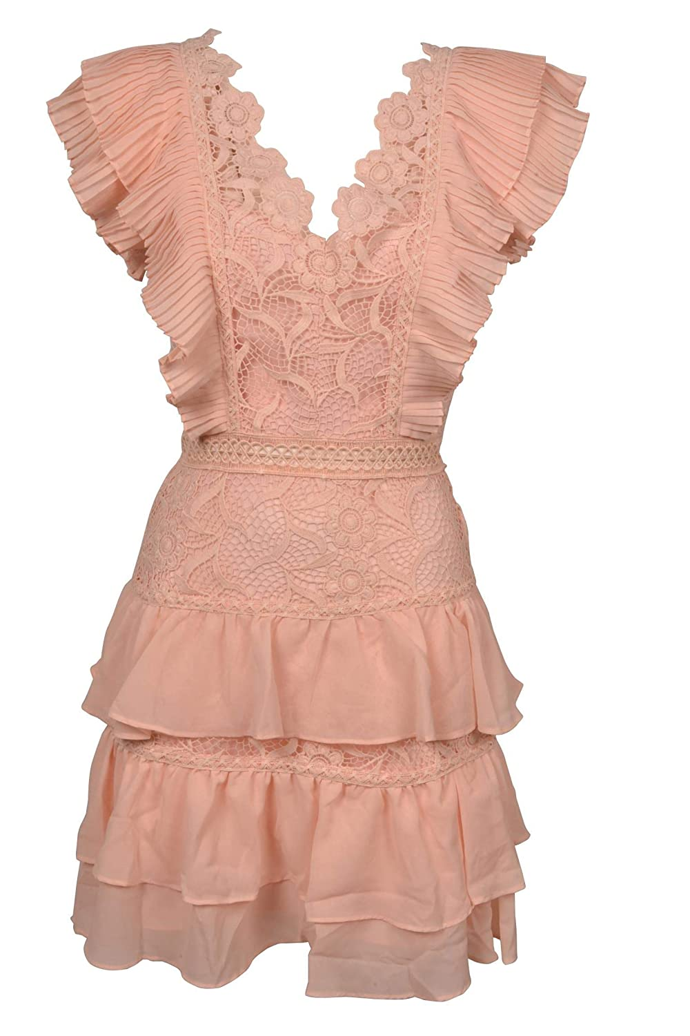 True Decadence Women's HS0787 Pink Cotton Dress
