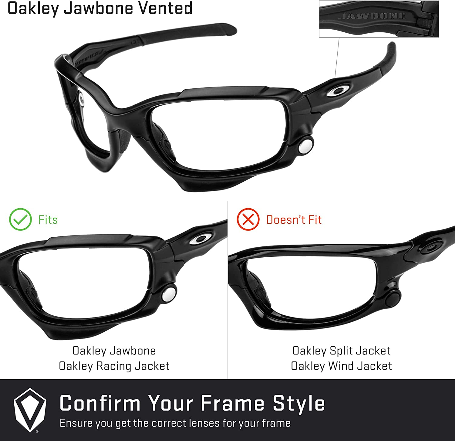 Revant Replacement Lenses for Oakley Jawbone Vented, Non-Polarized ...