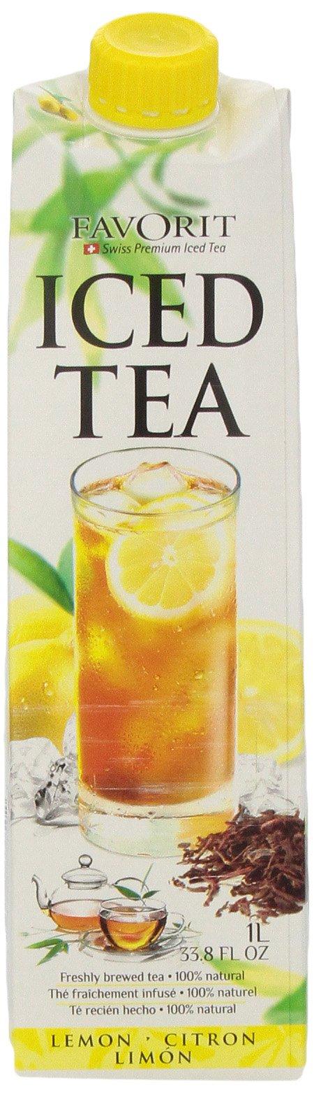 Favorit Iced Tea, Lemon, 33.8-Ounce (Pack of 6)