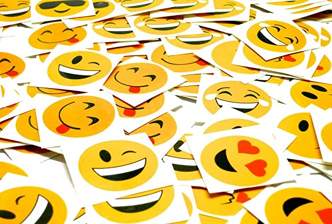 Emoji Tattoos - 144 2 Inch Temporary Emoticon Emoji Smiley Face Tattoo Assortment, Fun Gift, Party Favors, Party Toys, Goody Bag Favors, Cool And Fun Stickers For Kids And Adults – By Ecstatic Novelty