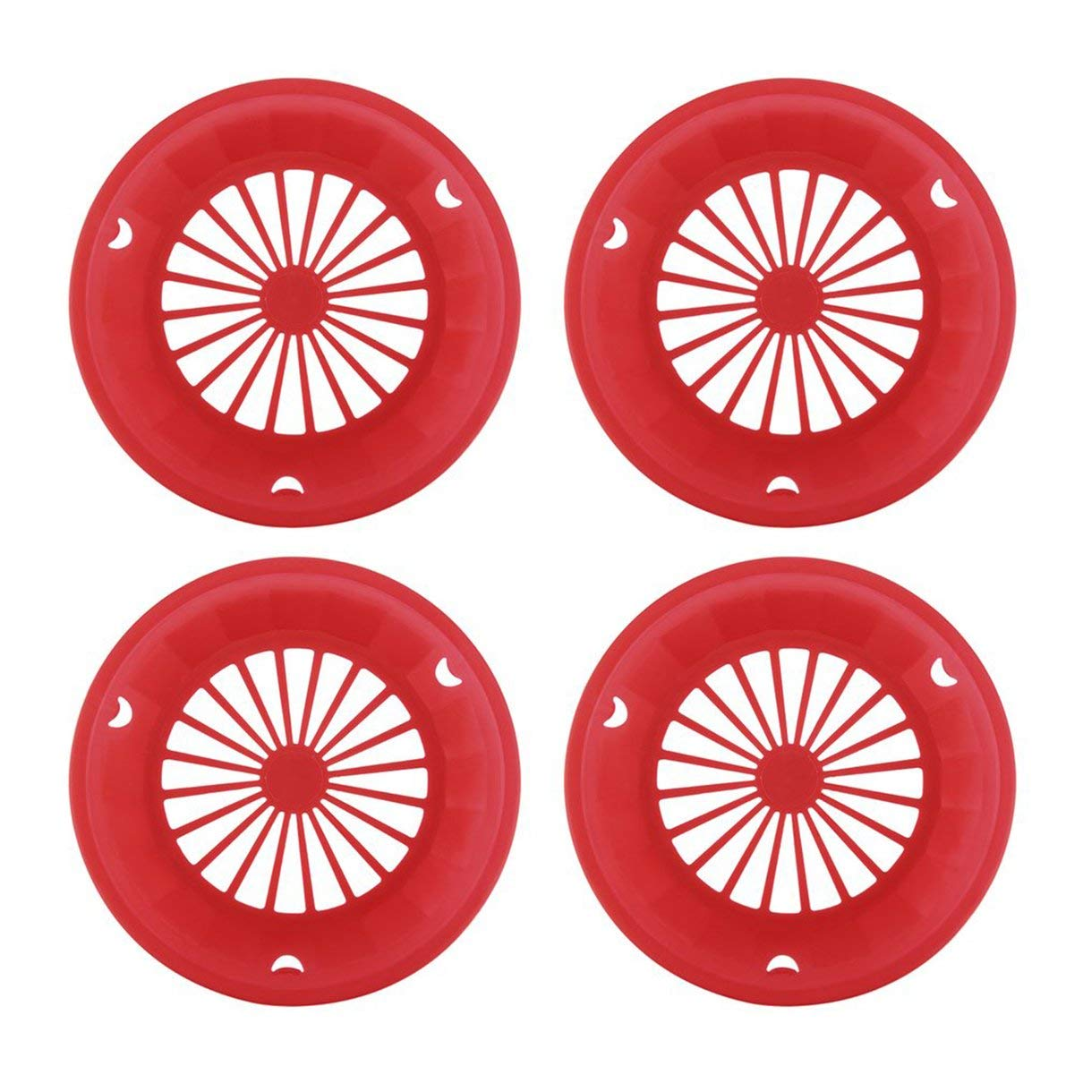 Bellaluee 4 pcs Plastic Paper Plate Holders Reusable 3-tab Style Picnic BBQ Camping Parties Plate Tableware Barbeque Accessories