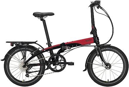 Tern Faltrad Link D8 20 Zoll Klapp Fahrrad 8 Gang Schwarz Rot Faltbar Aluminium Rad Kompakt Bike, CB15PNDO08HDRRB23