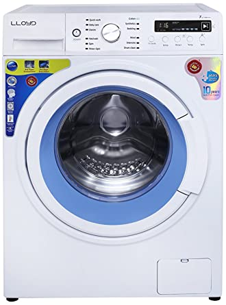 Lloyd 7 kg Fully-Automatic Front Loading Washing Machine (LWMF70, White and Blue)