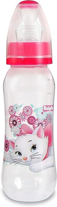 Mamadeira 240 ml Orto Silicone Blister, Disney Baby Go, Rosa