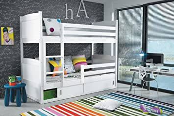 Etagenbett Rico 3 : Amazon rico etagenbett farbe weiß cm mit