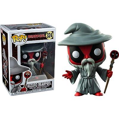 Funko Pop Marvel: Wizard Deadpool Collectible Figure, Multicolor: Toys & Games