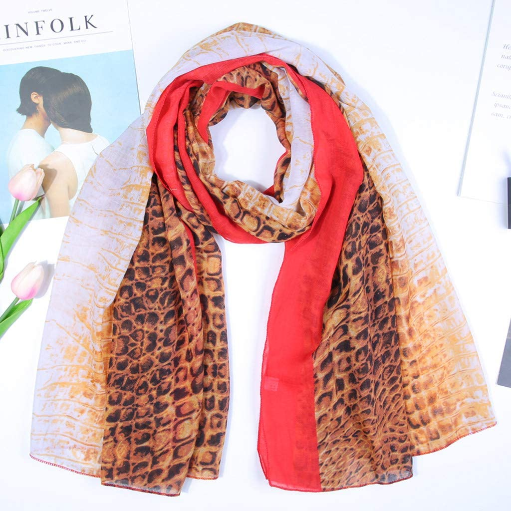 """Long SCARF 70 x 28/"""" TAN Red Browns 100/% Viscose SOFT durable  Zebra"""