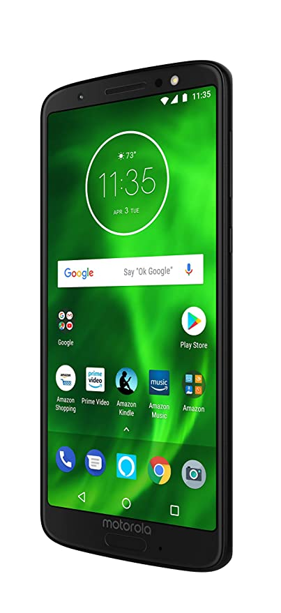 510b5591adb134 Amazon.com: Moto G6 with Alexa Hands-Free – 32 GB – Unlocked  (AT&T/Sprint/T-Mobile/Verizon) – Black - Prime Exclusive Phone: Cell Phones  & Accessories