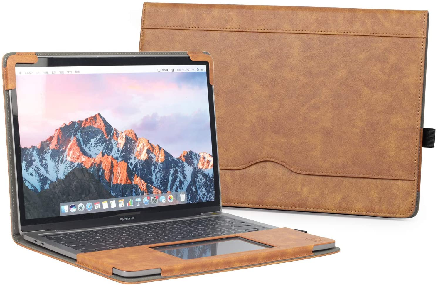 """TYTX MacBook Air Leather Case 13 Inch 2020 2019 2018 (A2179 A1932) Laptop Sleeve Protective Folio Book Cover (New MacBook Air 13"""", Brown)"""
