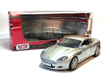 Motor Max Hard Top Silver Grey Aston Martin DB Coupe Car Scale - Aston martin db9 coupe