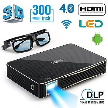 Amazon.com: DLP proyector pequeño para home theater ...