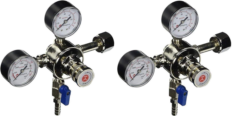Kegco 542 Pro Series Dual Gauge Co2 Draft Beer Premium Regulator