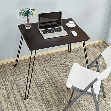 Mesa Plegable de 80 x 60 cm, pequeña Mesa portátil de Escritorio ...