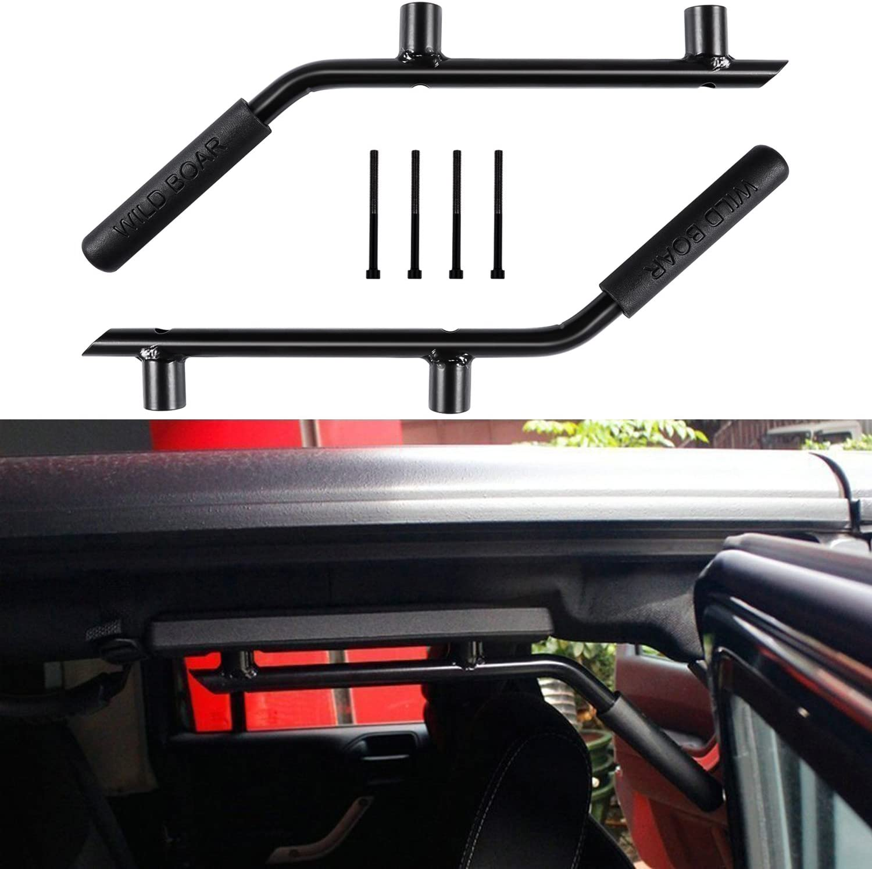 Pair Red Heavy Duty Rear Grab bar Grab Handles Grip Handle For Jeep Wrangler JK JKU Sports Sahara Freedom Rubicon X /& Unlimited 2007-2018 wen wen top