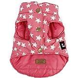 Tiny Small Dog Reversible Warm Vest Sleeveless Coat Star Pattern (XS, Pink)