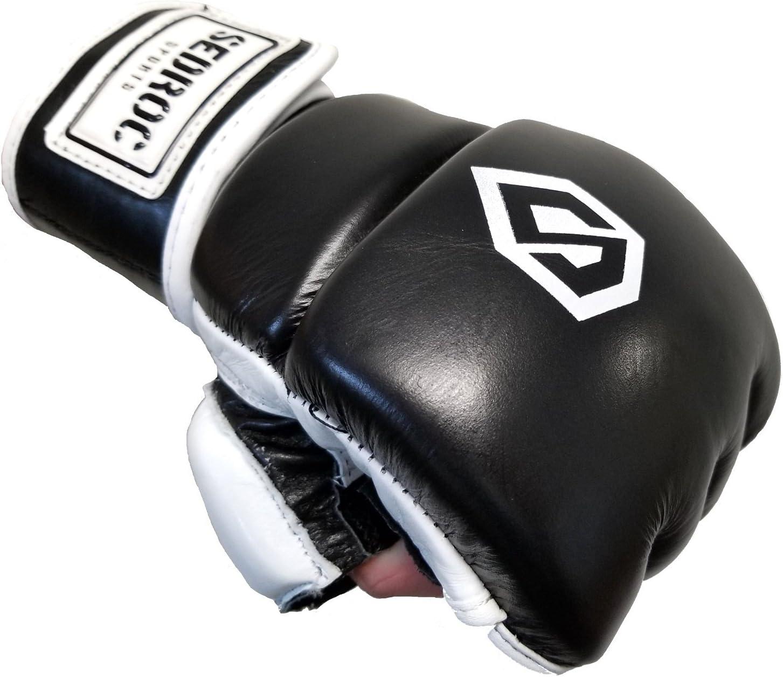 Sedroc Boxing Wristwrap Leather Heavy Bag MMA Gloves
