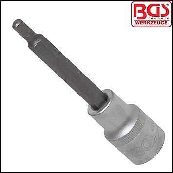 Bit-Einsatz L/änge 100 mm 1//2 12,5 mm BGS 4260 | Innensechskant 5 mm