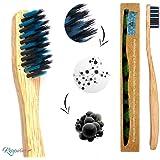 Bambus Zahnbürste, 1er Pack, Vegan, Biologisch Abbaubar, BPA frei