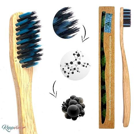 Cepillo de dientes de Bambú ecológico - vegano - biológico eco, sin BPA, 1