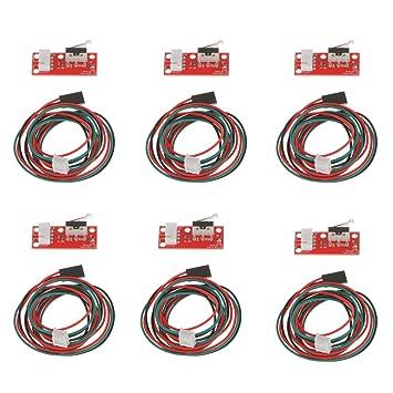 Gazechimp 6x Final de Carrera Mecánico 6x 3-Cable de Alambre Accesorios para Facilitar Impresoras 3D CNC