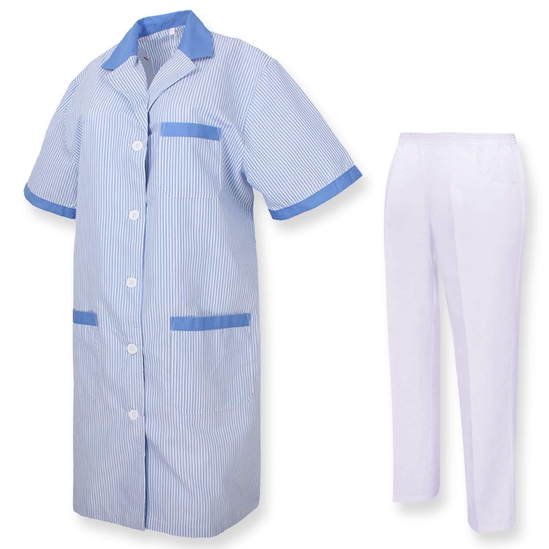 MISEMIYA - Bata Laboratorio Y PANTALÓN, Cuello REFORMADO Uniformes Sanitarios Uniforme MEDICOS - Ref.T81628: Amazon.es: Ropa y accesorios