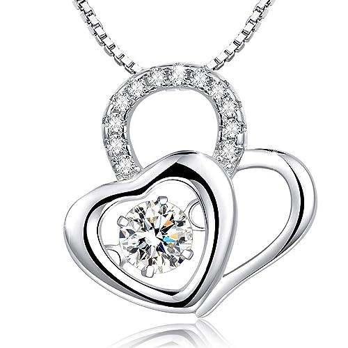 22871a8d1a4 Amazon.com  Annie   Kevin Dancing Heart Pendants Women Hearts ...